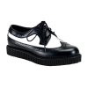 CREEPER-608 Black/White Leather